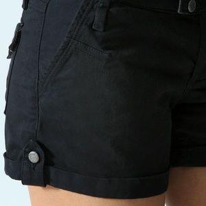 Paige Abbot Kinney Black Cuffed Shorts